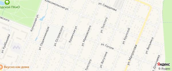Улица Маяковского на карте Шумерли с номерами домов
