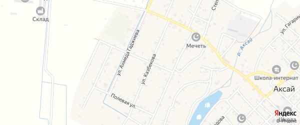 Улица 50 лет Октября на карте села Аксая с номерами домов