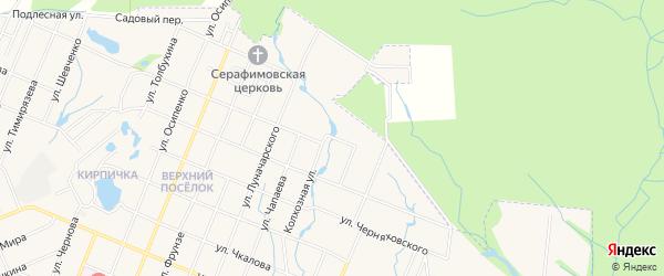 СТ Мичурина-3 на карте Шумерли с номерами домов