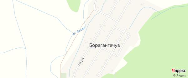 1-я улица на карте села Борагангечув с номерами домов