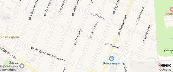 Улица Кирова на карте Шумерли с номерами домов