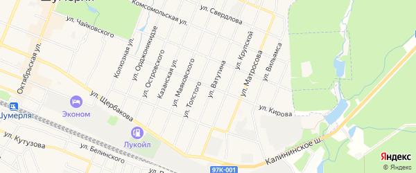 ГСК Малютка на карте улицы Кирова с номерами домов