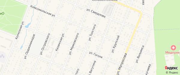 Улица Толстого на карте Шумерли с номерами домов