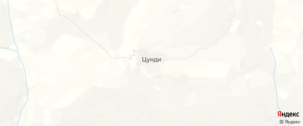 Карта села Цунди в Дагестане с улицами и номерами домов