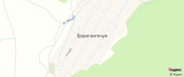 2-й переулок на карте села Борагангечув с номерами домов