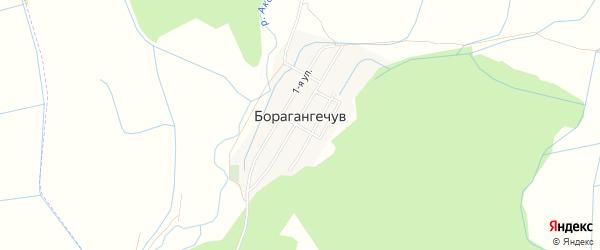 Карта села Борагангечув в Дагестане с улицами и номерами домов