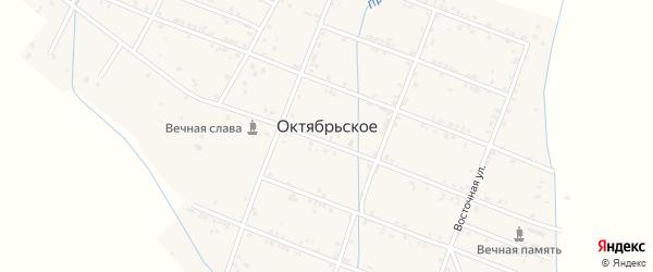 Улица Победы на карте Октябрьского села с номерами домов