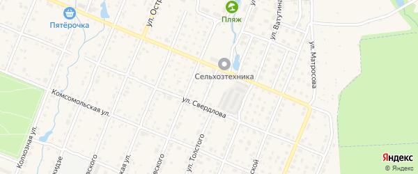 Переулок Филатова на карте Шумерли с номерами домов