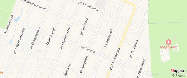 Улица Ватутина на карте Шумерли с номерами домов