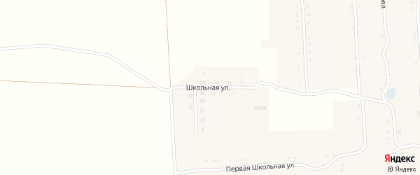Школьная улица на карте села Большие Алгаши с номерами домов