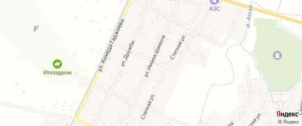 Улица Имама Шамиля на карте села Аксая с номерами домов