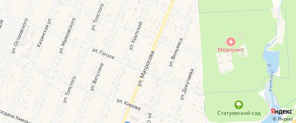 Улица Матросова на карте Шумерли с номерами домов