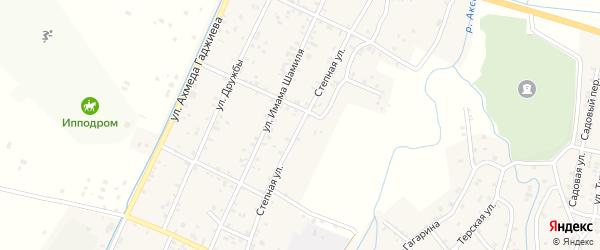 Степная улица на карте села Аксая с номерами домов