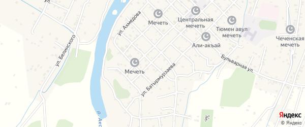 Улица А.Порсукова на карте села Аксая с номерами домов