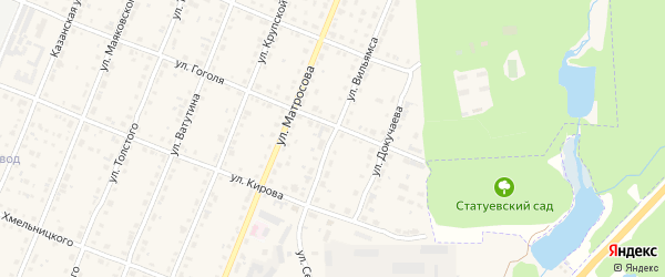 Улица Вильямса на карте Шумерли с номерами домов