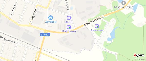 Калининское шоссе на карте Шумерли с номерами домов