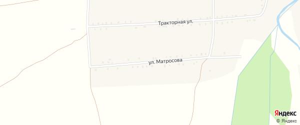 Улица Матросова на карте села Большие Алгаши с номерами домов
