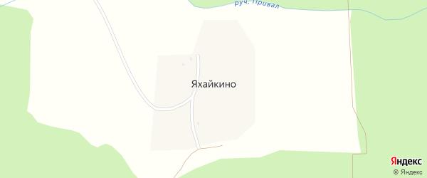 Овражная улица на карте поселка Яхайкино с номерами домов