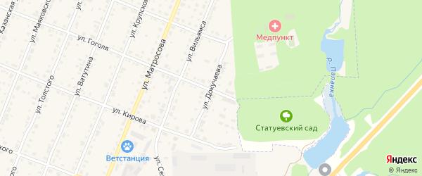 Улица Докучаева на карте Шумерли с номерами домов