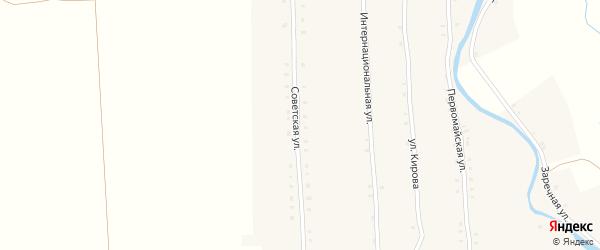 Советская улица на карте села Большие Алгаши с номерами домов