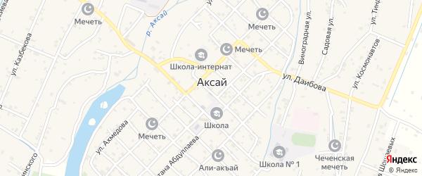 Улица Казакмурзаева на карте села Аксая с номерами домов