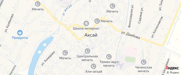 Нефтяная улица на карте села Аксая с номерами домов