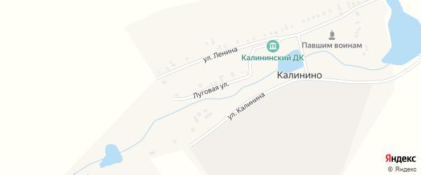 Луговая улица на карте поселка Калинино с номерами домов