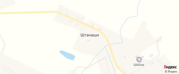 Октябрьская улица на карте села Штанаши с номерами домов