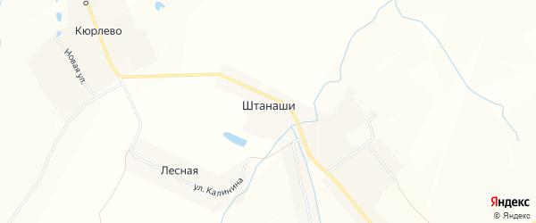 Карта села Штанаши в Чувашии с улицами и номерами домов