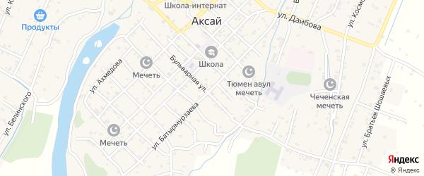 Улица Батырмурзаева на карте села Аксая с номерами домов