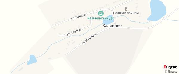 Улица Калинина на карте поселка Калинино с номерами домов
