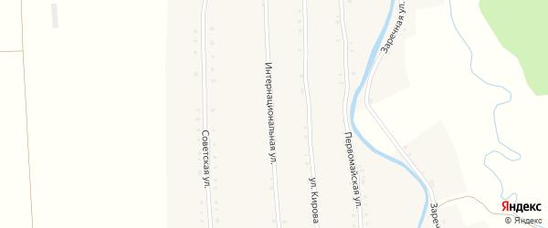 Интернациональная улица на карте села Большие Алгаши с номерами домов