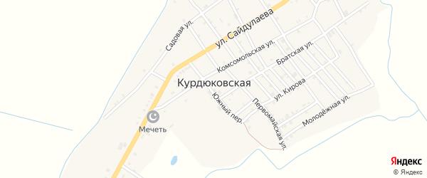 Мирный переулок на карте Курдюковская станицы с номерами домов