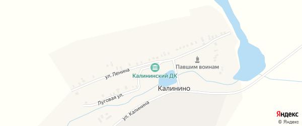 Улица Ленина на карте поселка Калинино с номерами домов