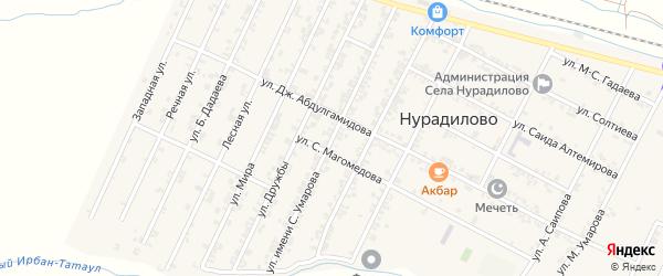 Улица С.Умарова на карте села Нурадилово с номерами домов