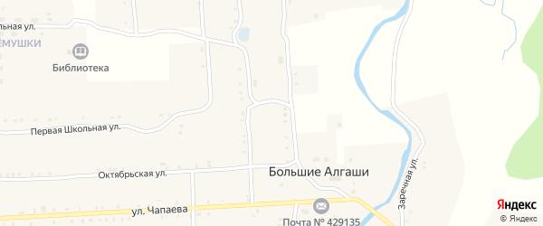 Улица Кордон Шадрихинский Сурского лесничества на карте села Большие Алгаши с номерами домов