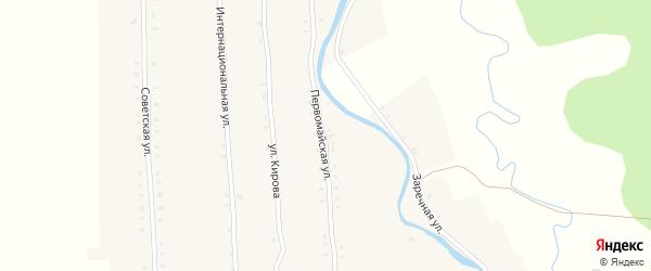 Первомайская улица на карте села Большие Алгаши с номерами домов