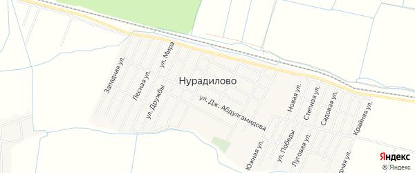 Карта села Нурадилово в Дагестане с улицами и номерами домов