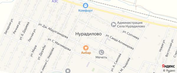 Цветочная улица на карте села Нурадилово с номерами домов