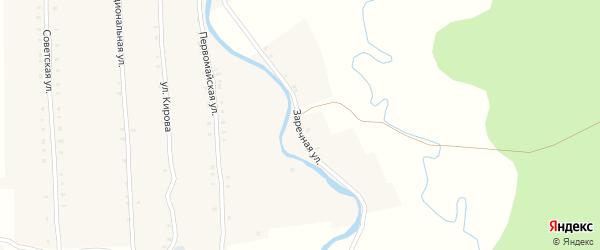 Заречная улица на карте села Большие Алгаши с номерами домов