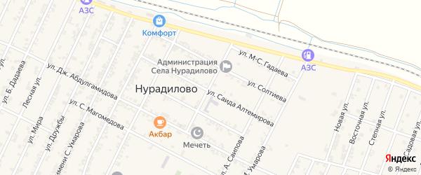 Улица Х.Нурадилова на карте села Нурадилово с номерами домов
