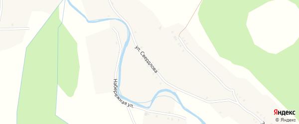 Улица Свердлова на карте села Большие Алгаши с номерами домов