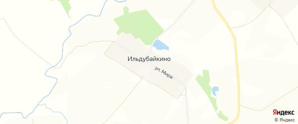 Карта деревни Ильдубайкино в Чувашии с улицами и номерами домов