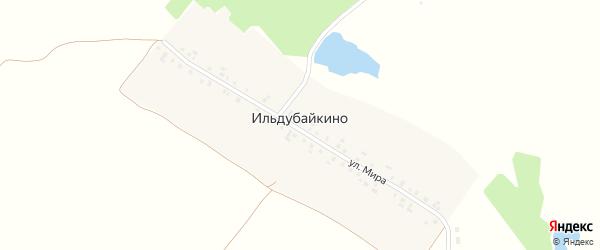Улица Мира на карте деревни Ильдубайкино с номерами домов
