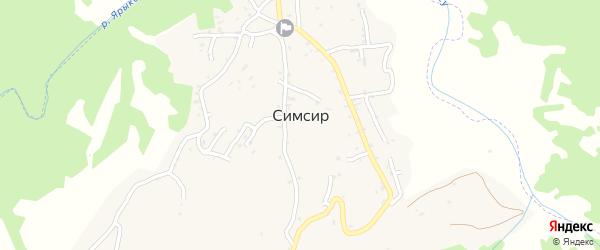 Предгорная улица на карте села Симсир с номерами домов