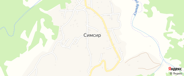 Восточная улица на карте села Симсир с номерами домов