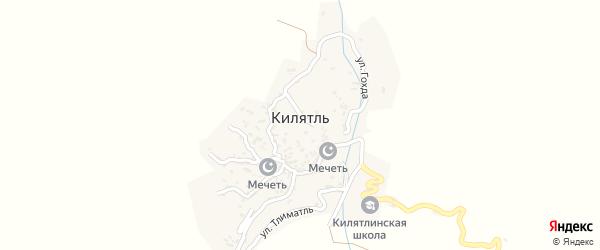 Улица Урдахур на карте села Килятля с номерами домов