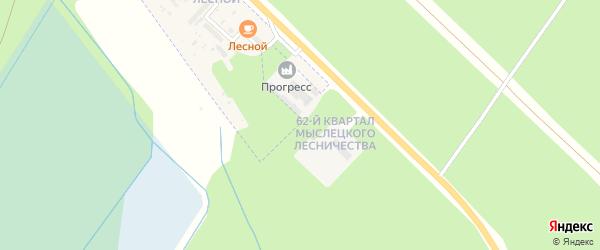 62-й квартал на карте территории Мыслецкого лесничества с номерами домов