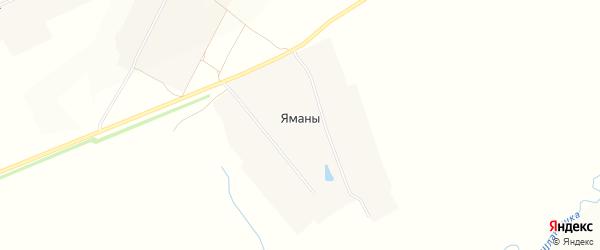 Карта деревни Яман в Чувашии с улицами и номерами домов