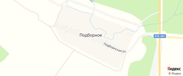 Подборнская улица на карте поселка Подборного с номерами домов
